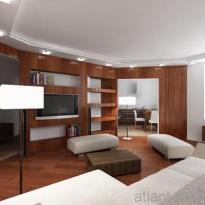 Дизайн проект гостиной 1