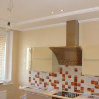 Фотография отделки кухни плиткой